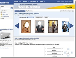 framed again facebook app