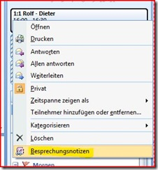 outlook kalender notizen