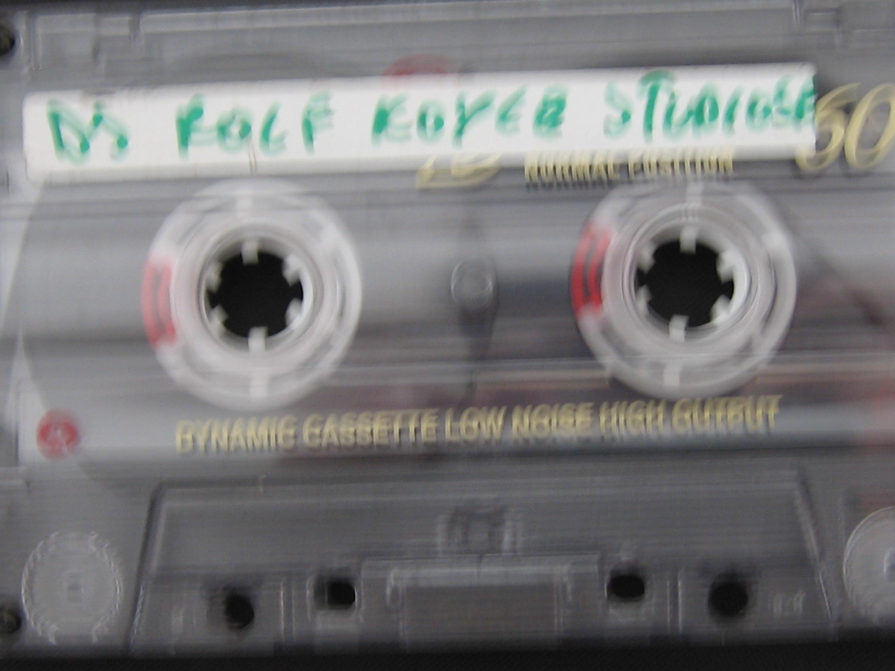 mein erstes mixtape - wirklich auf MC aufgenommen
