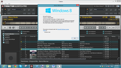 traktor on windows 8