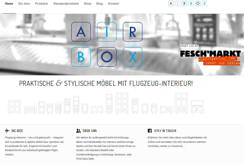 airbox website screenshot